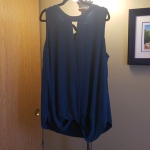 Tealish Green 41 Hawthorn blouse top. 2x in size